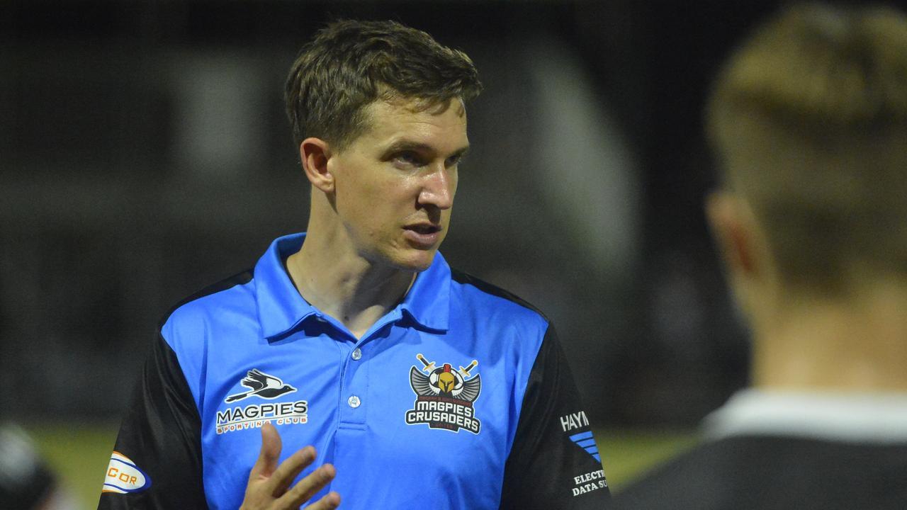 Magpies Crusaders head coach Tom Ballantyne.