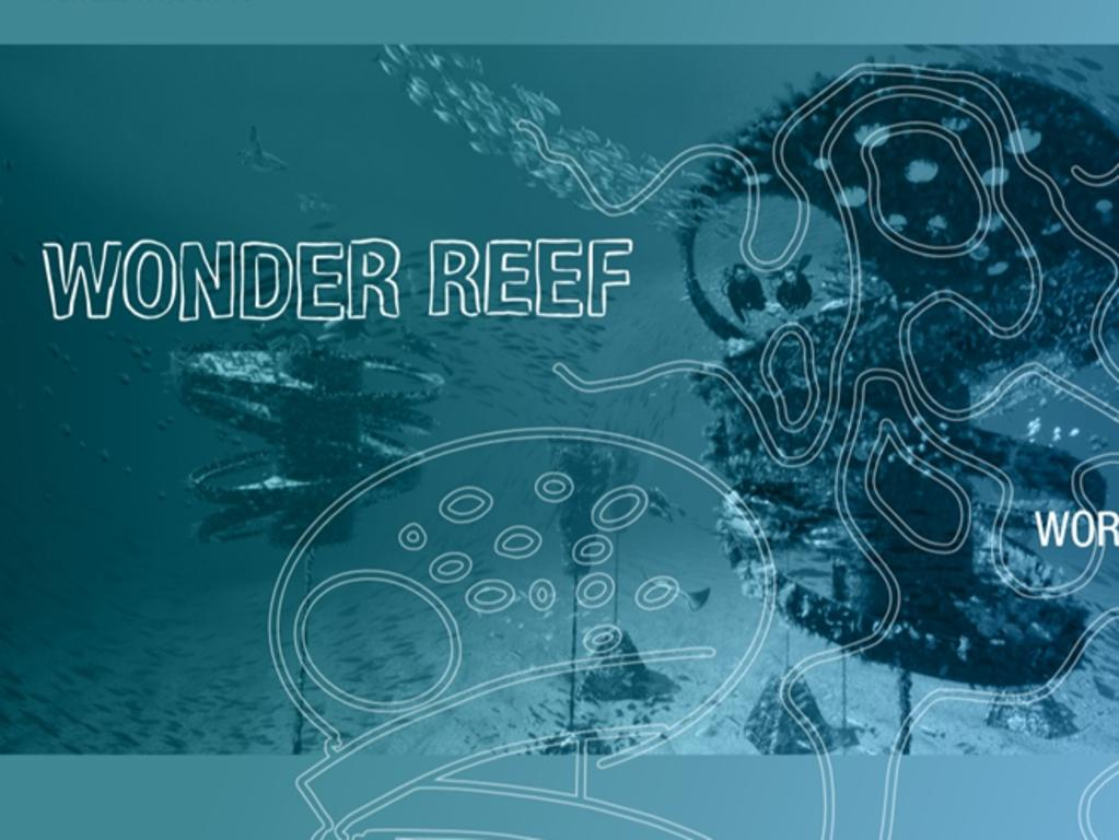 Branding for the Gold Coast dive site attraction.