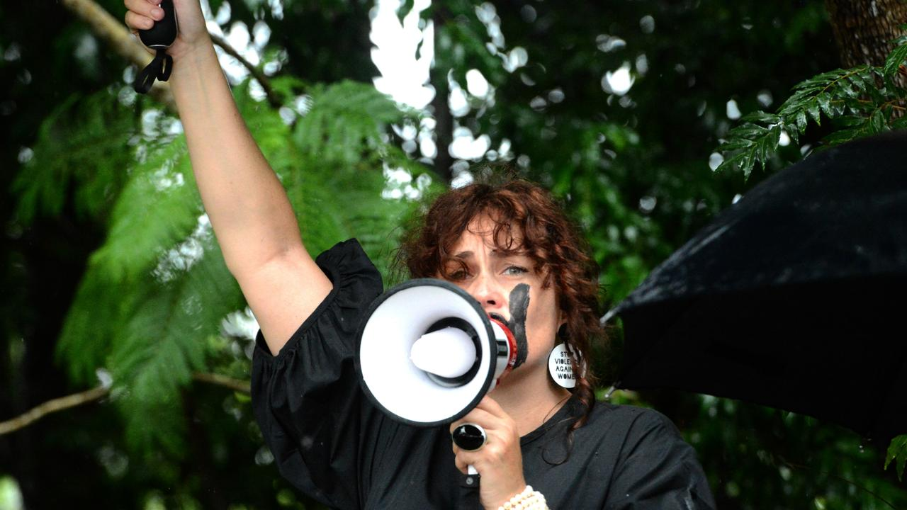 Ilona Harker at the March 4 Justice event in Mullumbimby on Monday, March 15, 2021. Picture: Liana Boss