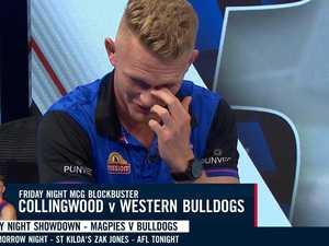 AFL star emotional after fiancee 'lies'