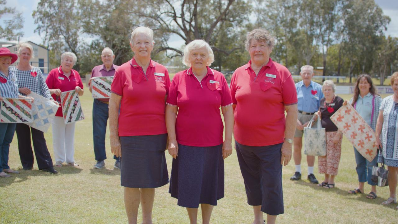 Rockhampton RFDS Volunteer Auxiliary members Jan Nightingale, Margaret Littleton and Margaret Laughton.