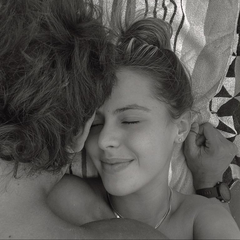 Mia Fevola with Jamarra Ugle-Hagan. Pic: Instagram