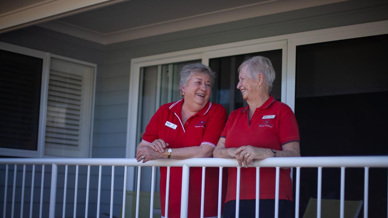 Rockhampton RFDS volunteer auxiliary members Del Clark and Jan Nightingale.