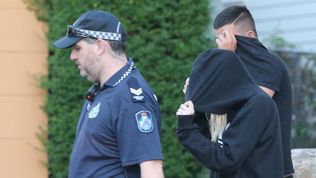 Carla Allende has been deemed too great a threat to remain on Russell Island. Generic image of woman in police presence used for illustrative purpose. Pic Jono Searle.