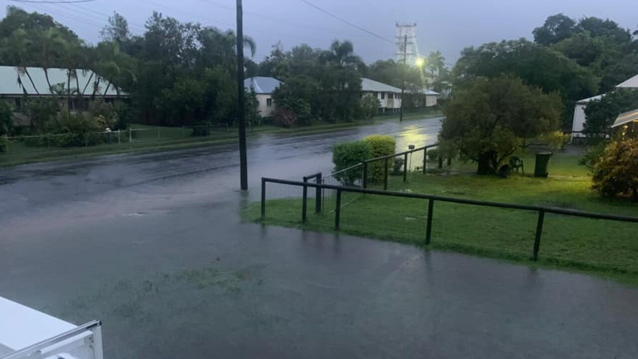 Ben Robinson captured this photo of water pooling in Proserpine on January 9.