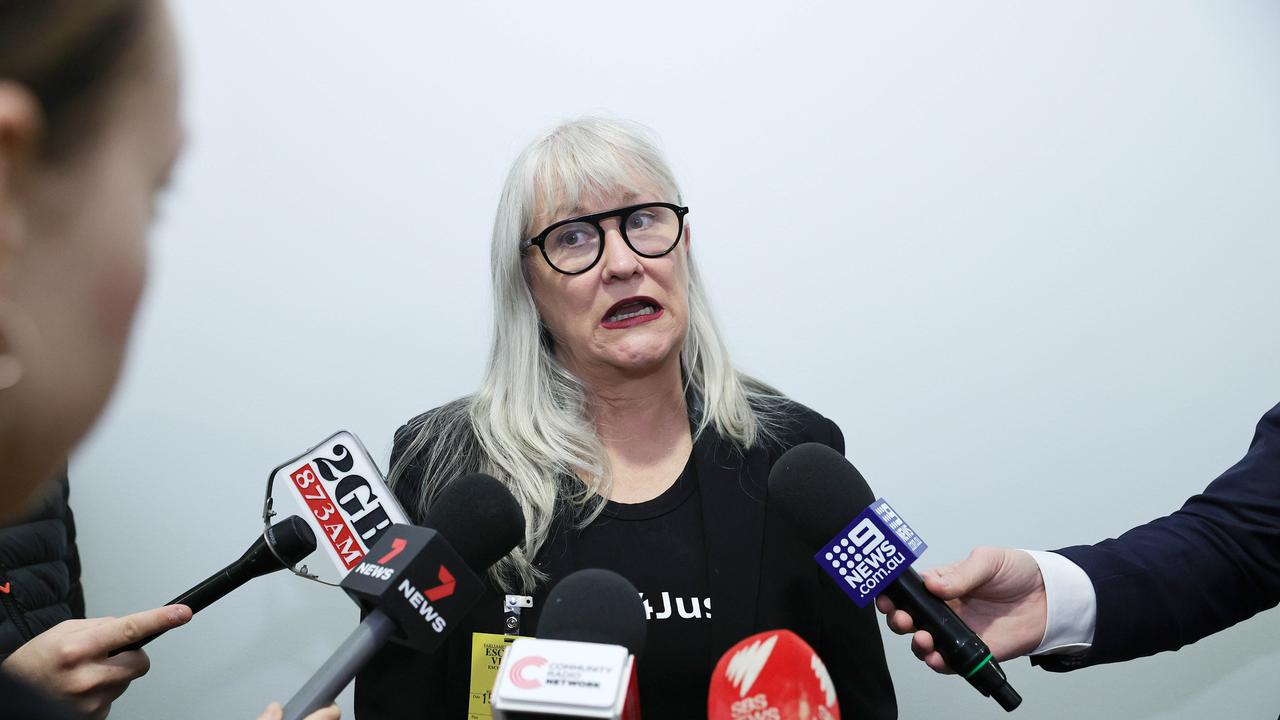 Organiser of the Women's March 4 Justice protest rally Janine Hendry, in Parliament House in Canberra. Picture: NCA NewsWire / Gary Ramage