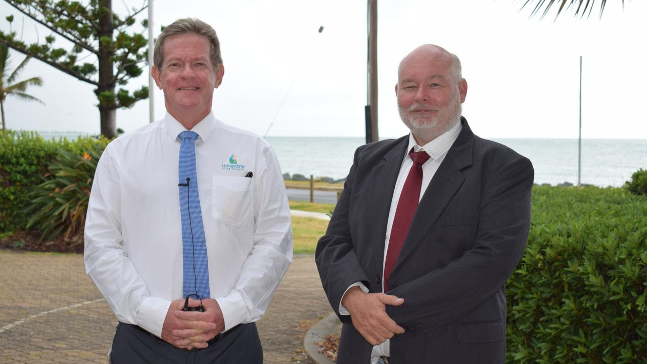 Livingstone Shire Council Mayor Andy Ireland and councillor Rhodes Watson. Picture: Aden Stokes