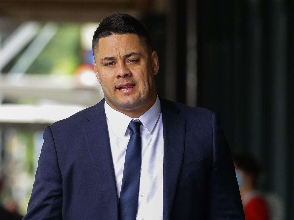 Jarryd Hayne has pleaded not guilty to sexually assaulting a woman inside her Newcastle home on grand final night in 2018. Picture: NCA NewsWire/Gaye Gerard.