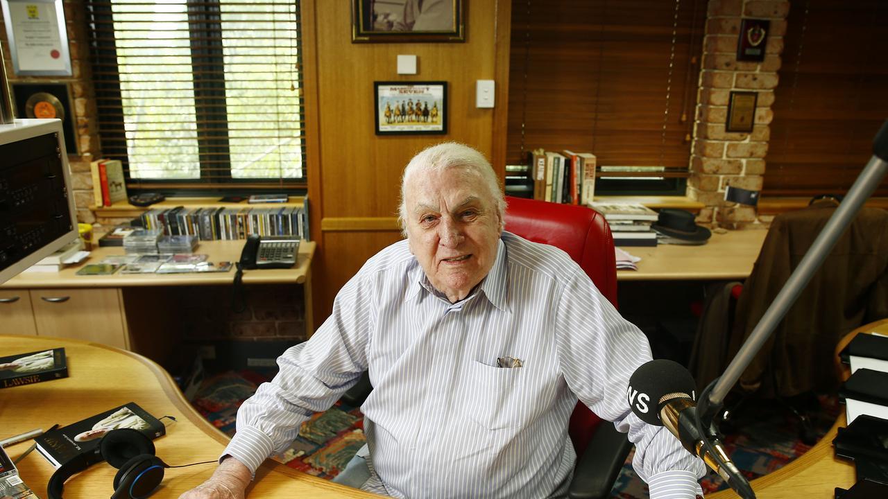 Talkback Radio Icon John Laws in his 2SM studio in Pyrmont. Picture: John Appleyard