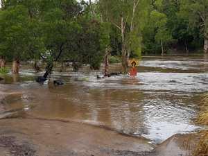 550mm: Creek overflows as rain buckets down on Byfield
