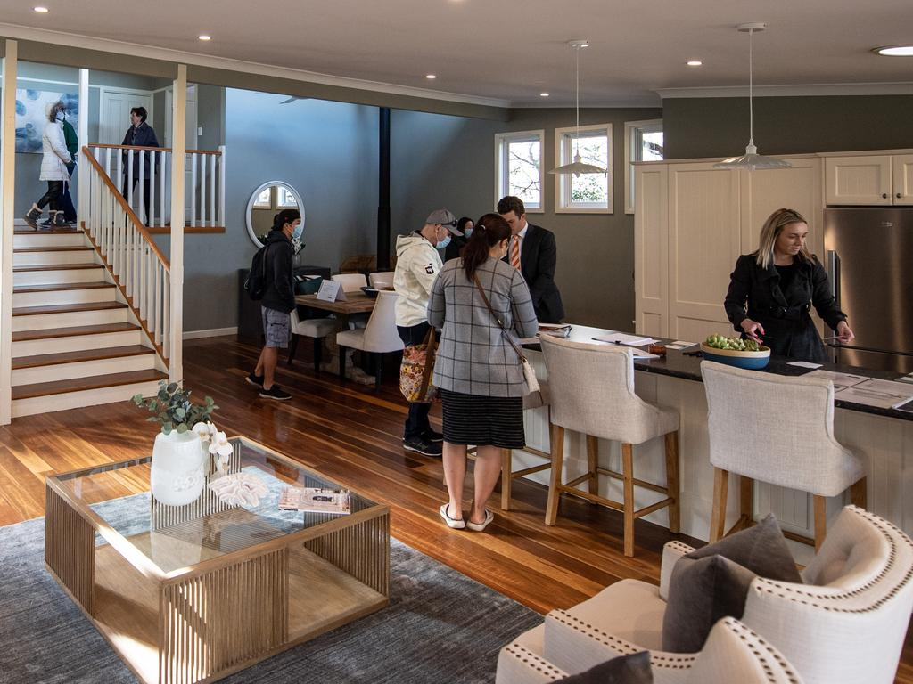 Busy open homes will continue. Picture: James Gourley/The Sunday Telegraph