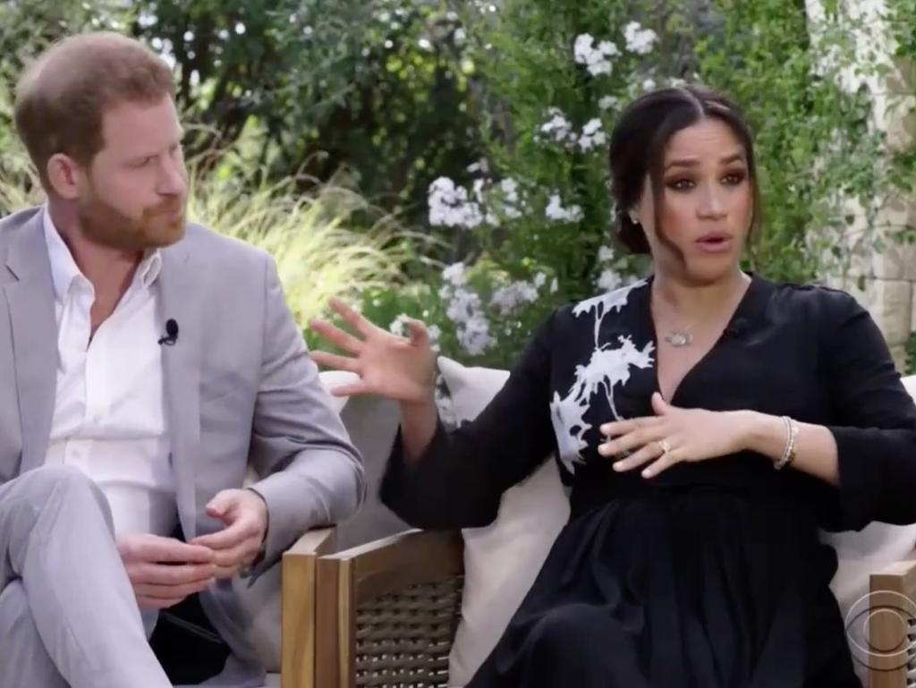 """Gayle King says Harry and Meghan want """"healing"""" from their interview. Picture: CBS"""