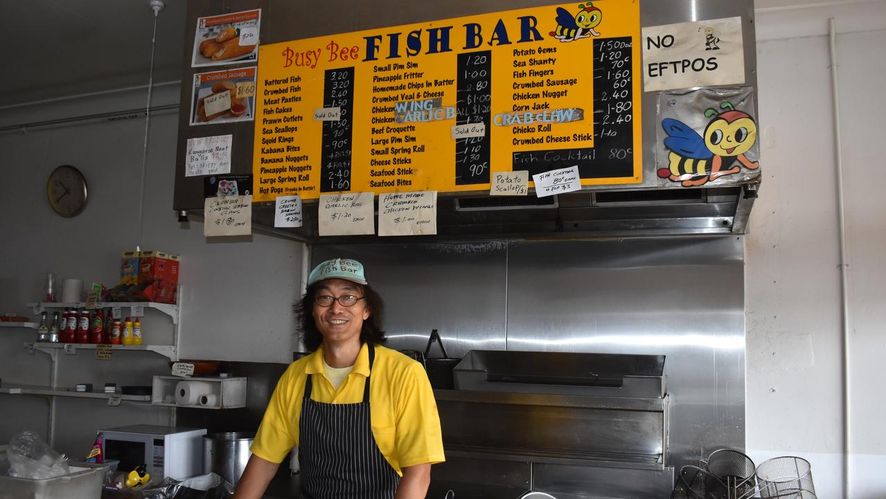 Andrew Wong opens up about his father Kent's passing, his Bundaberg memorial service and what the future holds for the Busy Bee Fish Bar and its world famous battered chips. Picture: Rhylea Millar
