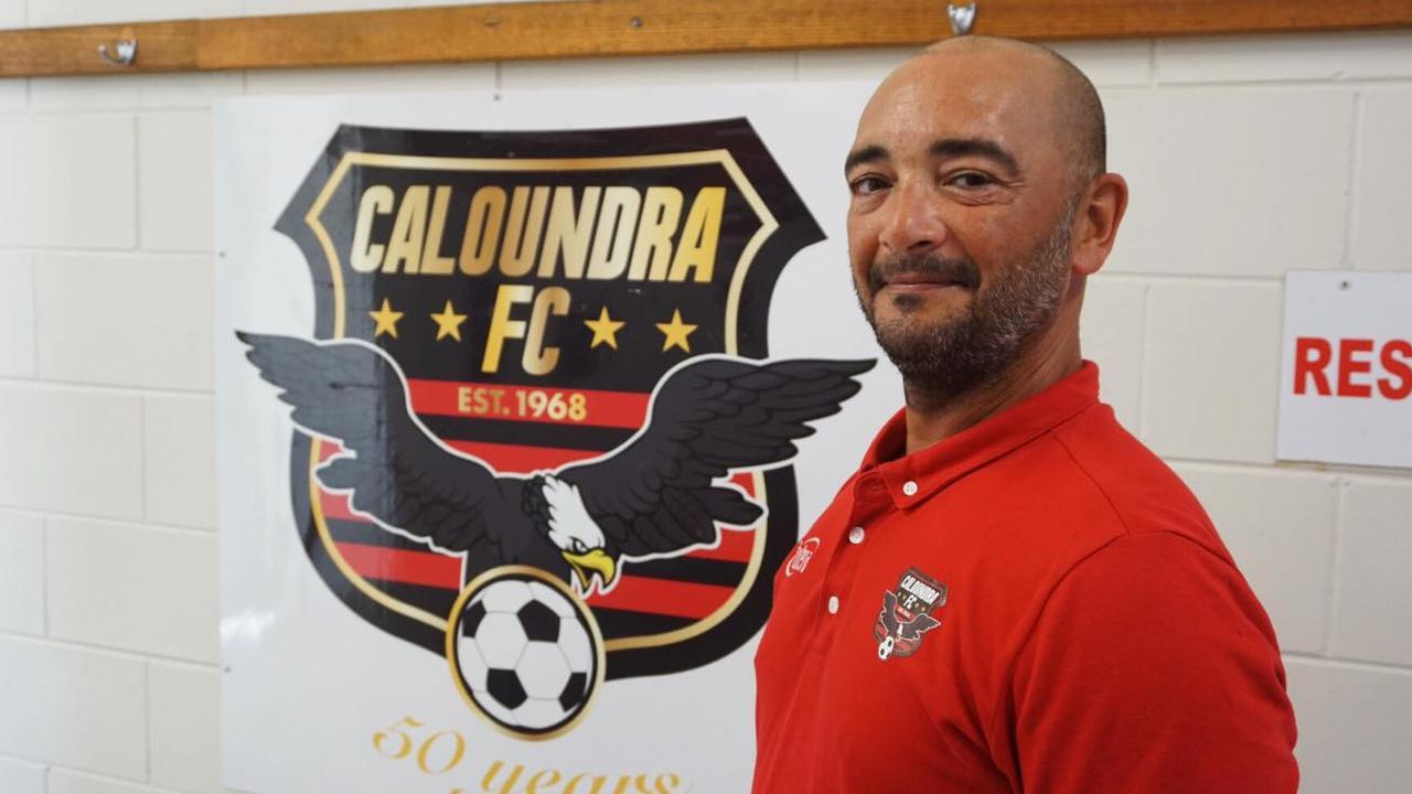 New Caloundra Eagles coach Louis Chaperon. Picture: Caloundra FC Facebook