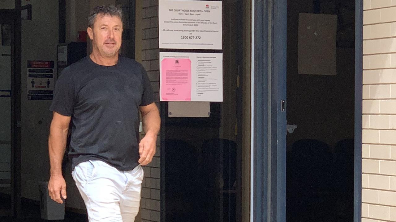 Philip David Emanuele leaves Tweed Heads Courthouse on March 12, 2021.
