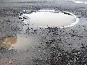 Potholes in Bright Street East Lismore
