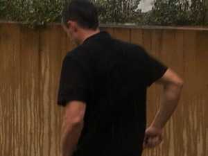 Thirsty tradie smuggles chilled beer down trousers