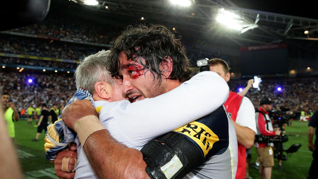Johnathan Thurston will reunite with former Cowboys coach Paul Green at the Maroons. Picture: Getty Images.