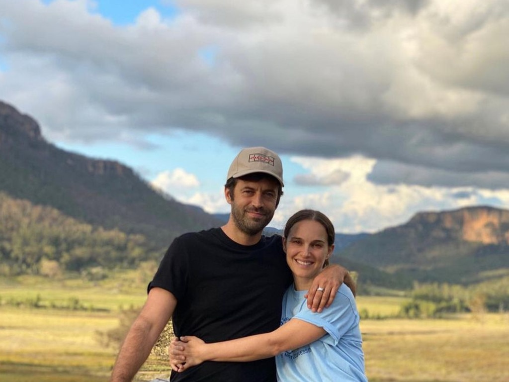 Natalie Portman and Benjamin Milipied in the Blue Mountains. Picture: Instagram
