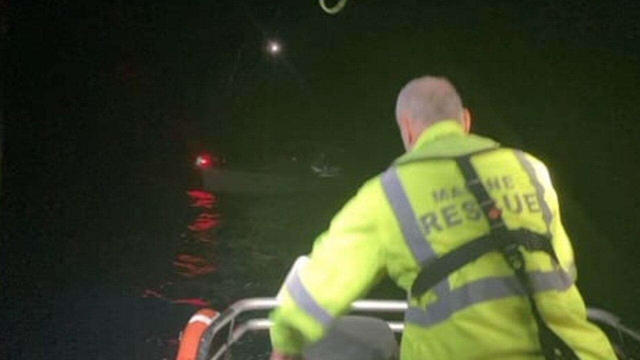 Marine Rescue Coffs Harbour reach the stricken vessel on Wednesay morning.