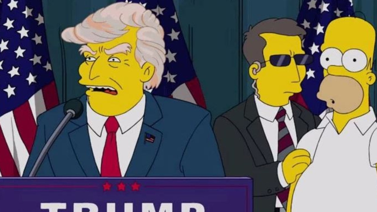The Simpsons famously predicted a Donald Trump victory years ago. Picture: Supplied.