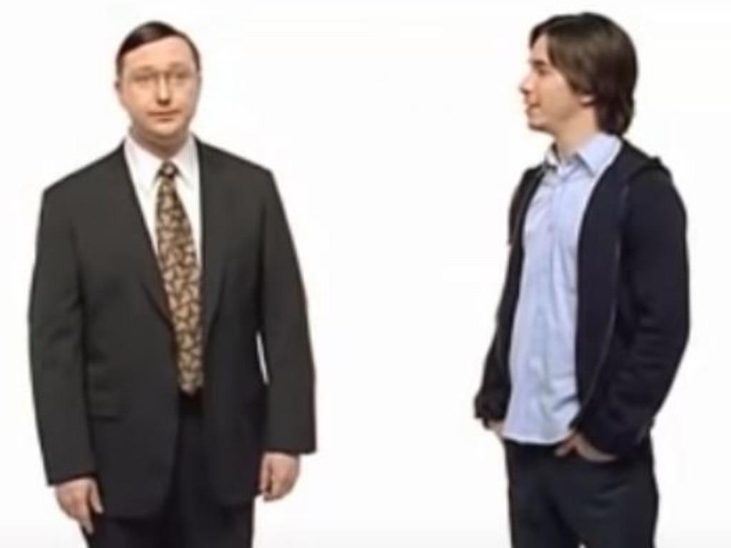 John Hodgman and Justin Long in the original Mac vs PC ads.