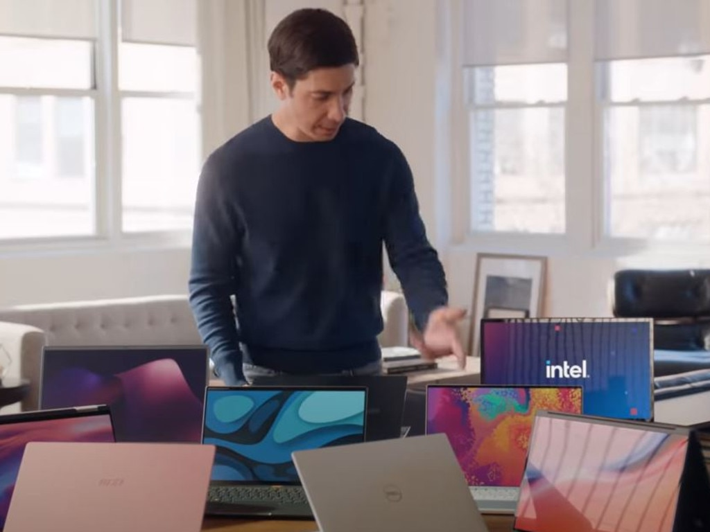 Justin Long is spoiled for choice in one ad, where he complains the Macs don't come in more colours. (They do.)
