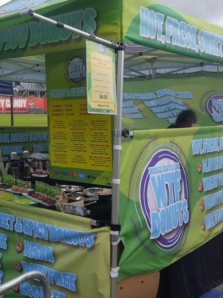 A WTF Wicked Tasty Food stall.