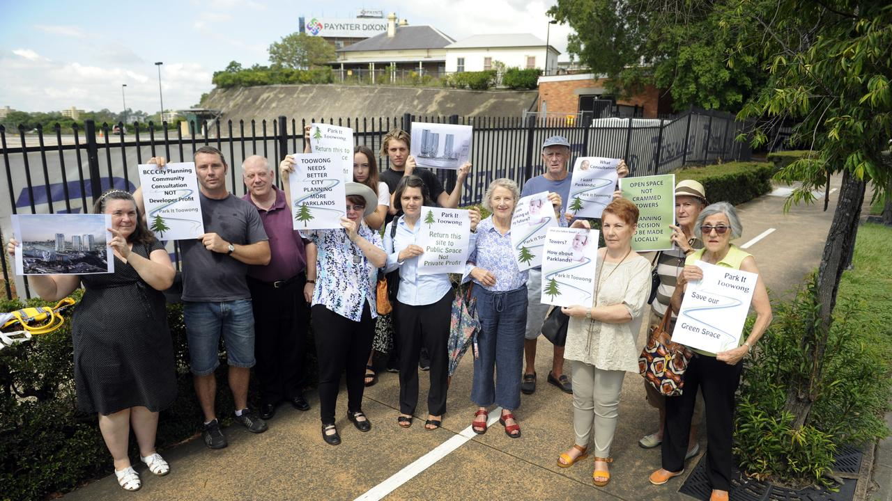 Community group ParkIT, formed to advocate for the old ABC site be turned into parkland. Photo: Paul Guy