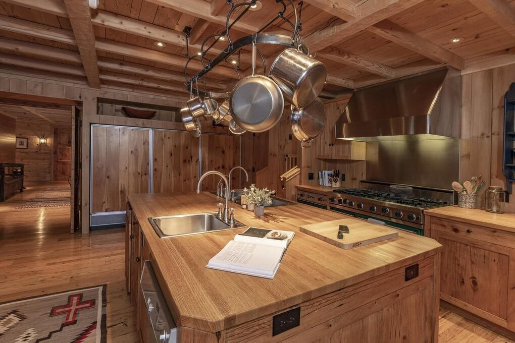 Even the kitchen is wood themed. Picture: Realtor