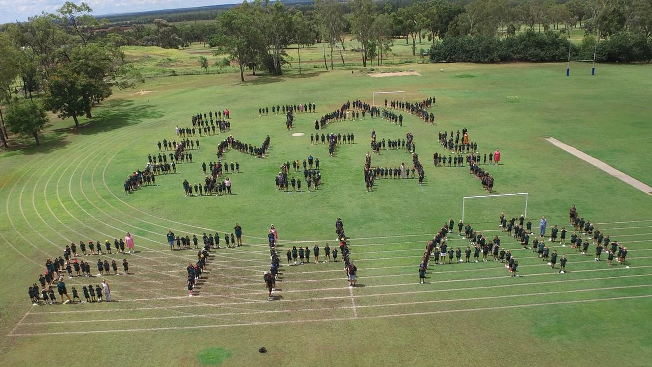 Moranbah State School staff and students sent a special message to Ethan Stevens while he was undergoing treatment.
