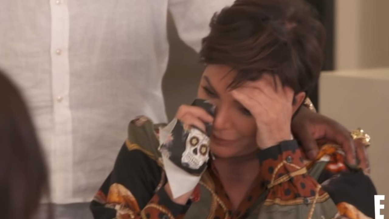 Kris got emotional during the episode.