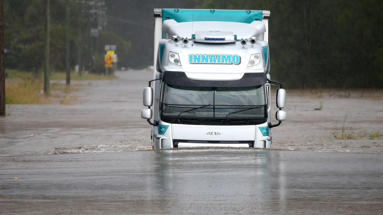 Port Macquarie roads were inundated. Picture: Nathan Edwards