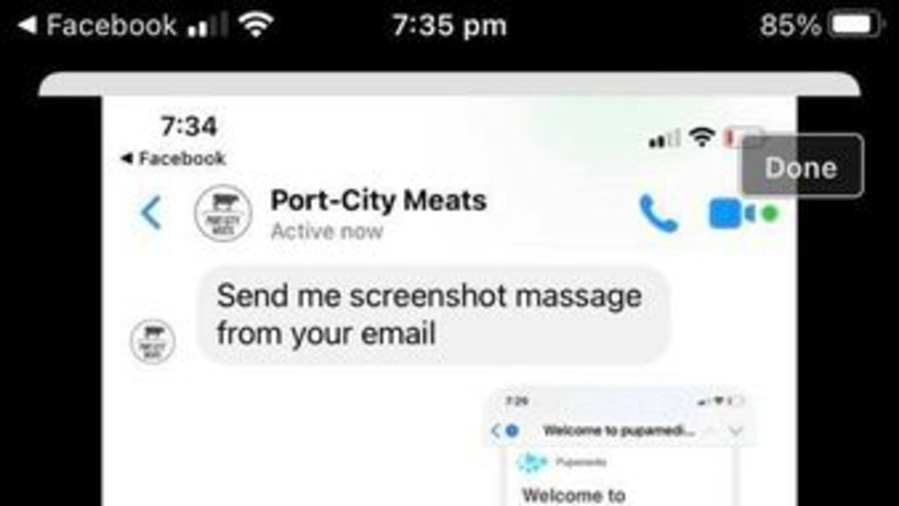 Fake social media account, Port-City Meats, asked customers to register for an event before directing them to website that is known to run scams.