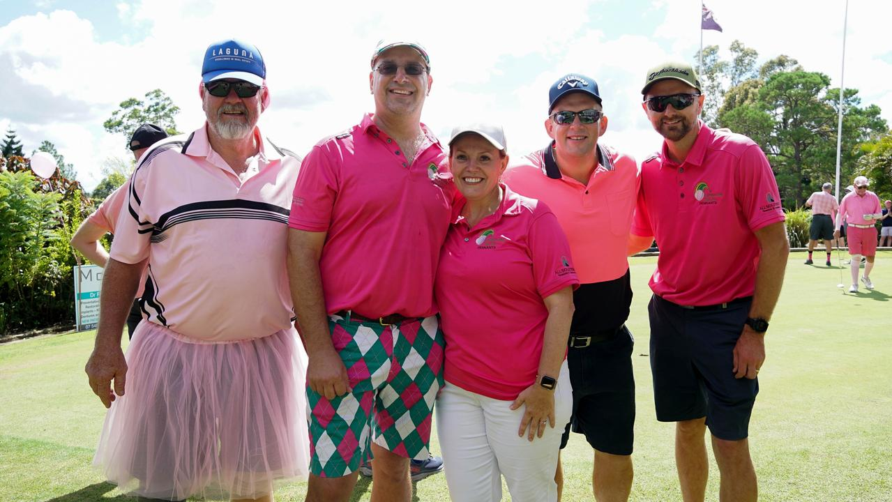 The first Annual Pink Golf Day at the Gympie Golf Club.