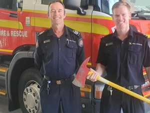 Mackay firefighters perform rescue of the adorable kind