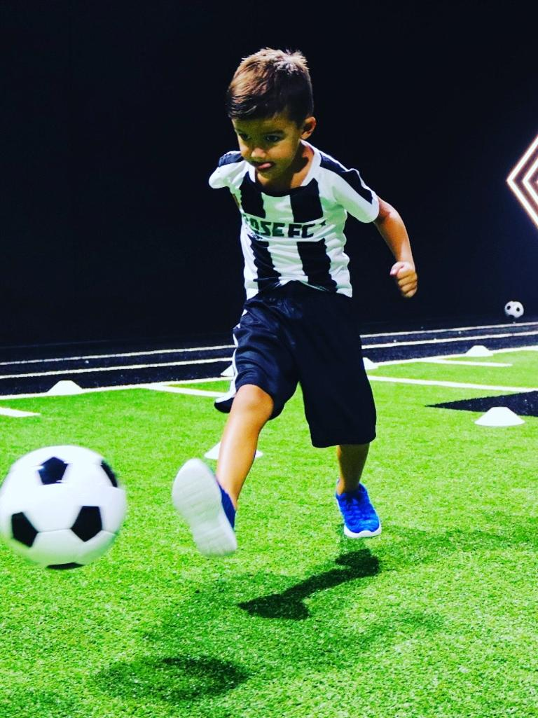 Jack Hamblin hones his skills with the new Base FC Academy in Airlie Beach. Photo: Contributed
