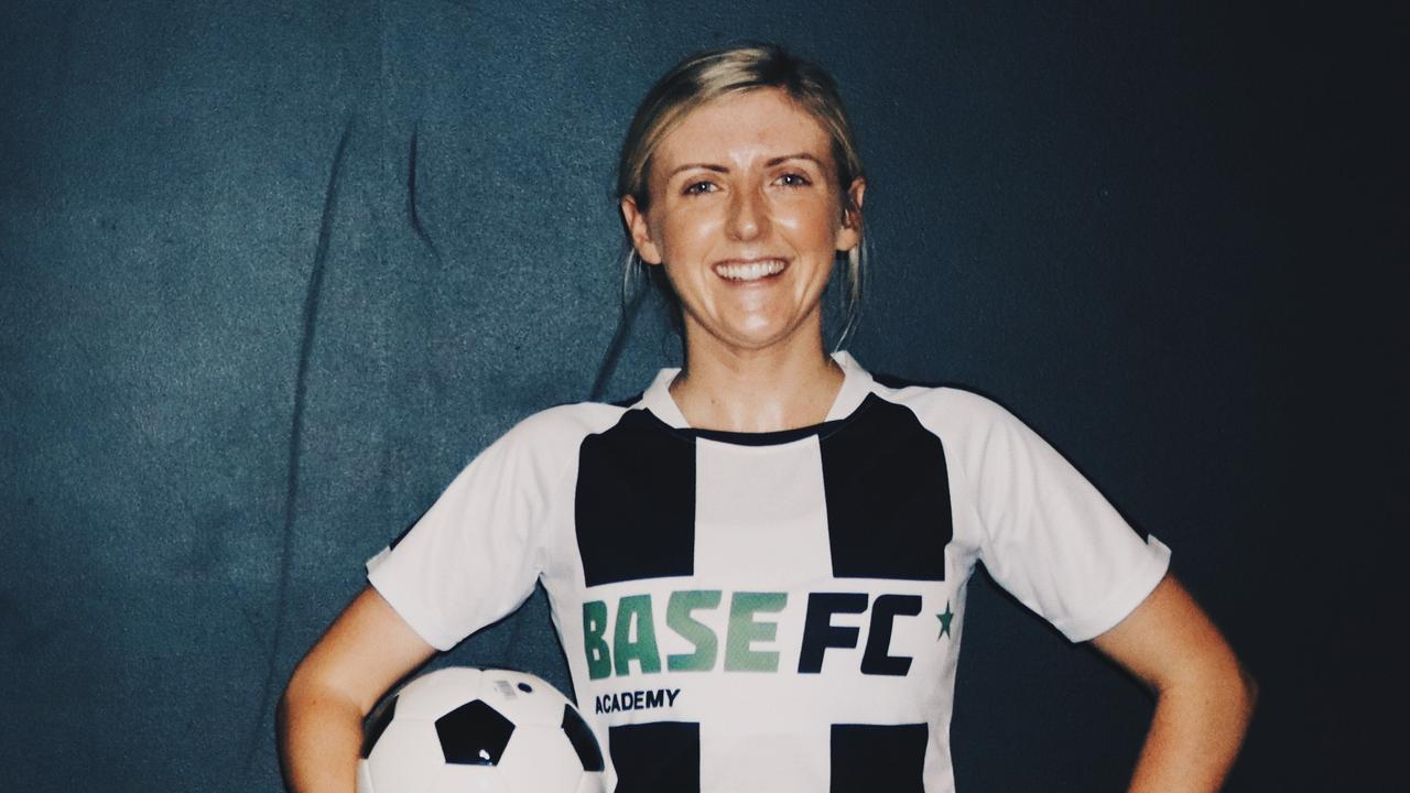 Base FC creator Steph Mills has been playing competitive football since the age of 5 in the UK and has now started a new academy for the sport in Airlie Beach. Photo: Contributed