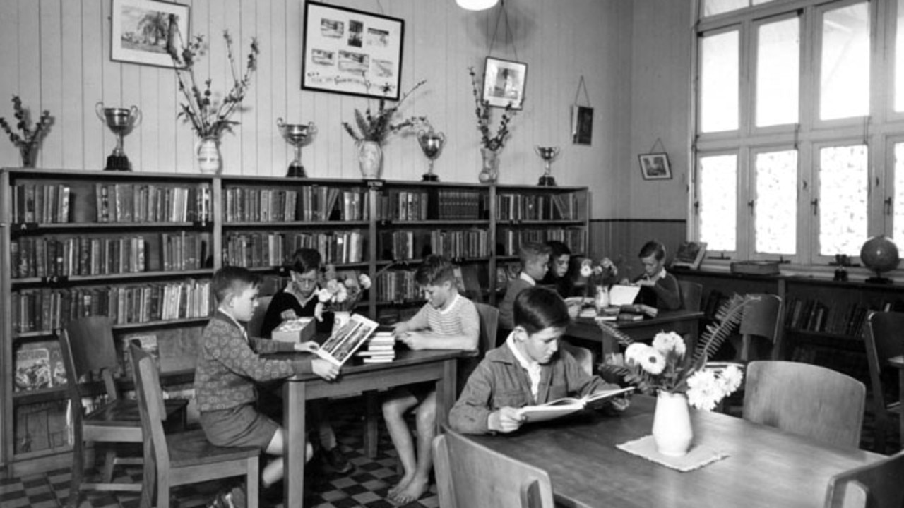 Buranda State School library in 1950.