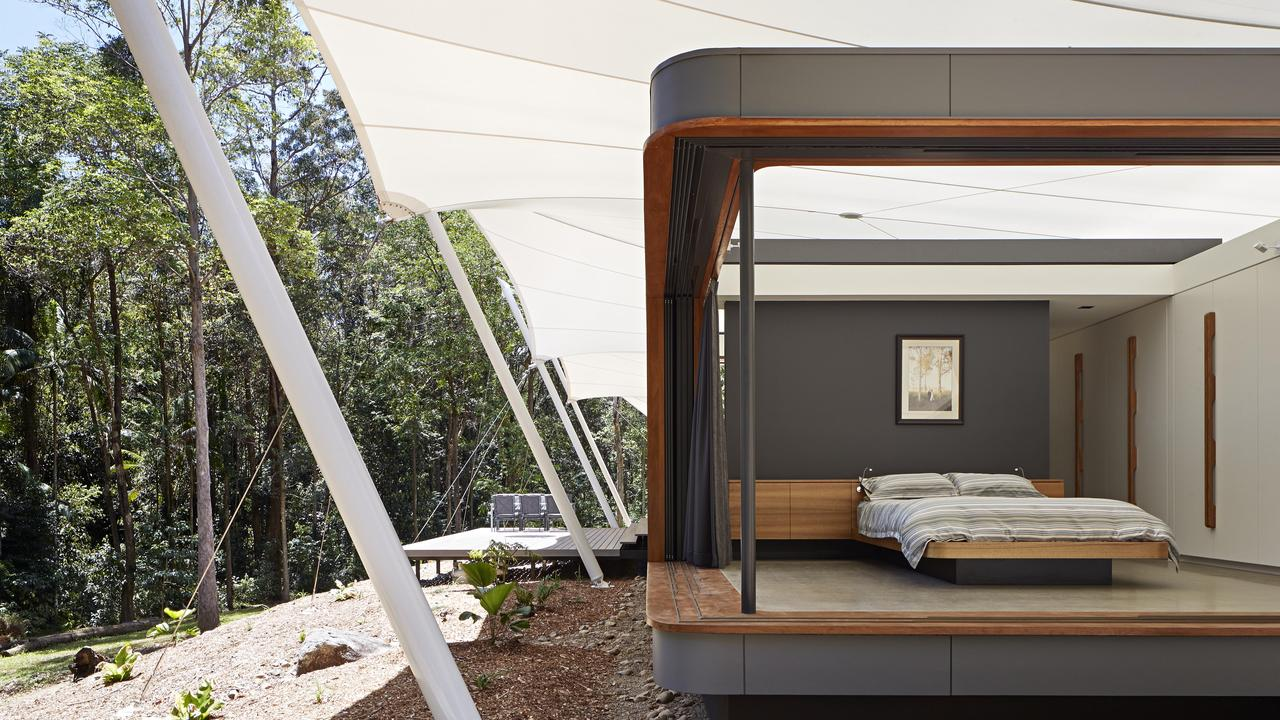 The Verrierdale tent house allows you to sleep under the stars. Picture: Foxtel/GDA
