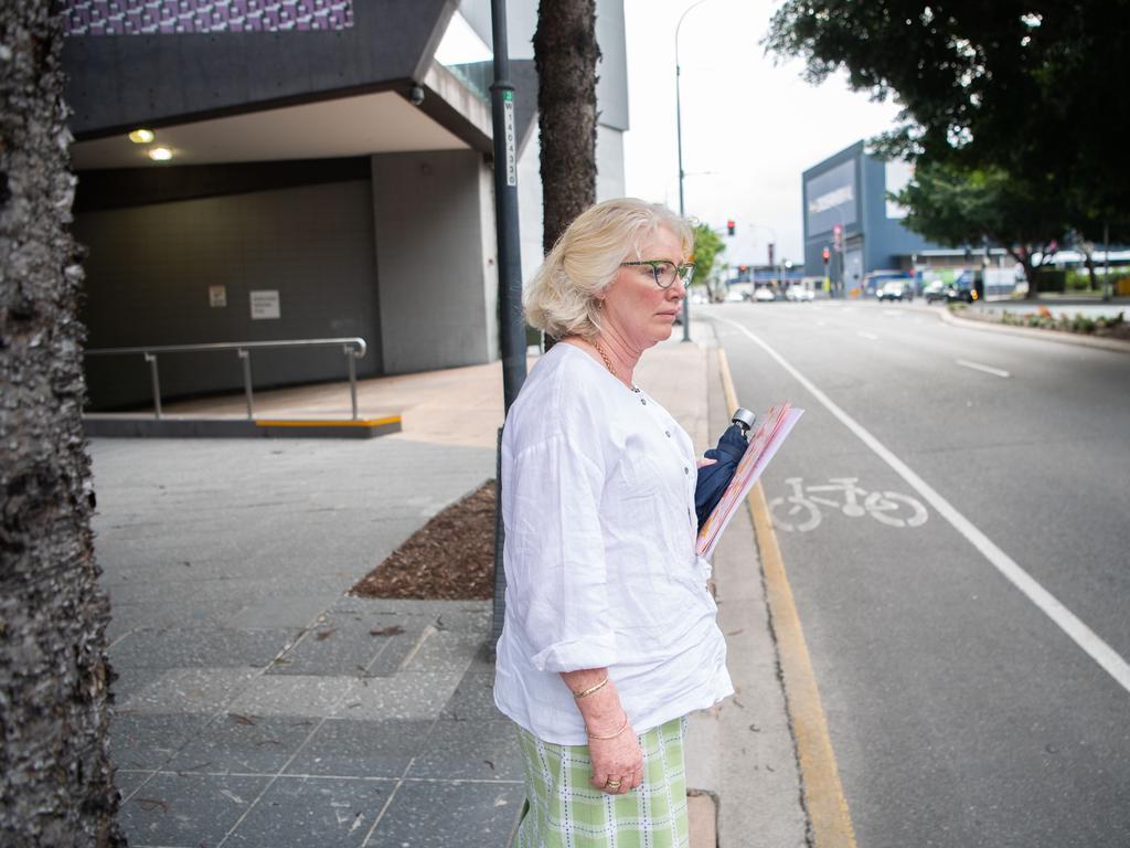 Toowoomba teacher Meredith Rawlings leaves the Supreme Court in Brisbane. Picture: NCA NewsWire / Dan Peled