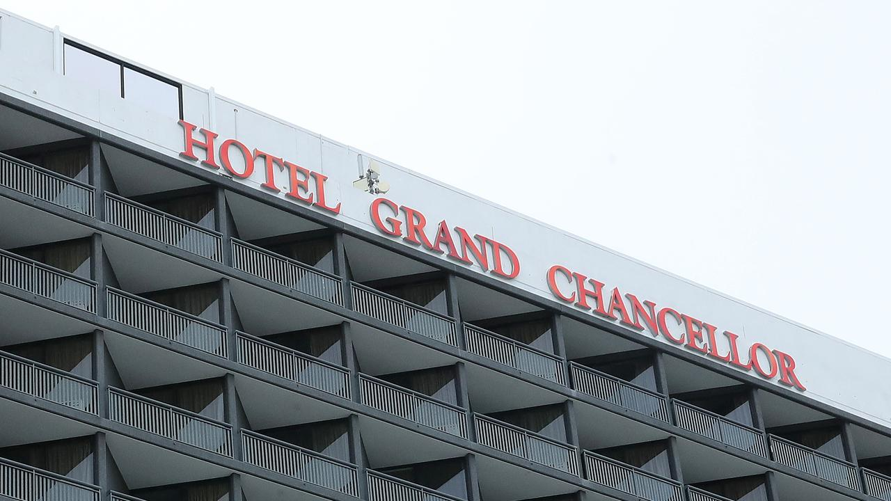 New cases of COVID-19 detected at the Hotel Grand Chancellor, Brisbane. Photographer: Liam Kidston