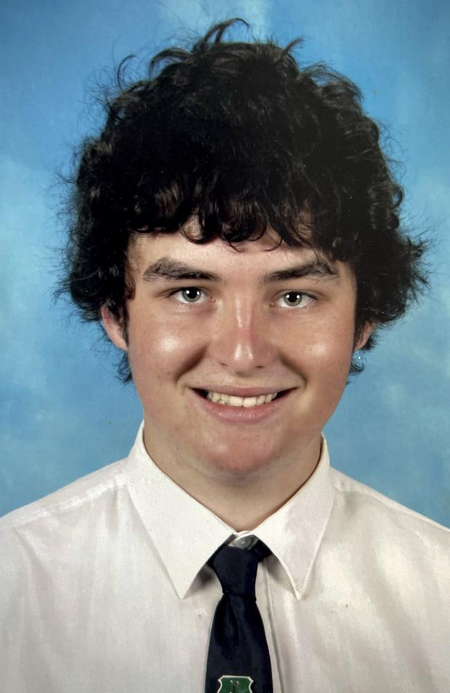Queensland author Lech Blaine, who survived a triple fatality car crash in Toowoomba in 2009, pictured the same year when he was a St Mary's College school student, age 17.