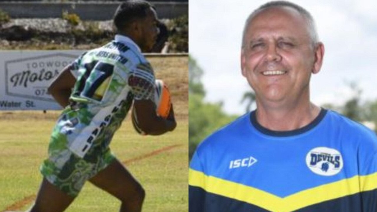 Keith Gadd Jr (left) was instrumental in the Gympie Devils' 10-4 win over Caboolture at the weekend, while coach Michael Buckley is bullish about his side's chances this year.
