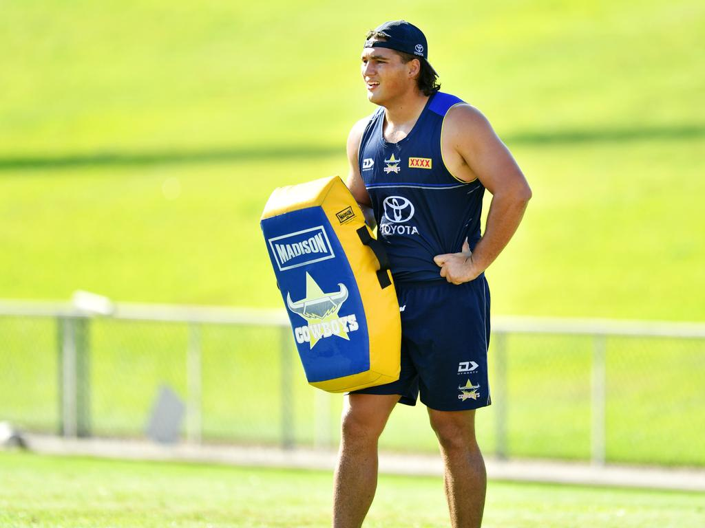 Wiremu Greig of the Cowboys is the heaviest man in the NRL. Picture: Alix Sweeney