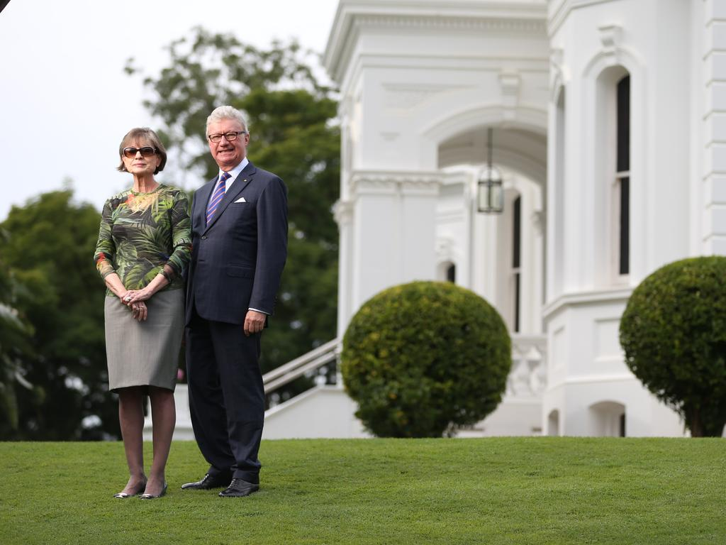 Governor Paul de Jersey and his wife Kaye at Government House.
