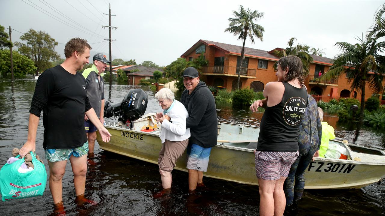 Residents of North Haven south of Port Macquarie were evacuated to higher ground on Saturday. Picture: Nathan Edwards