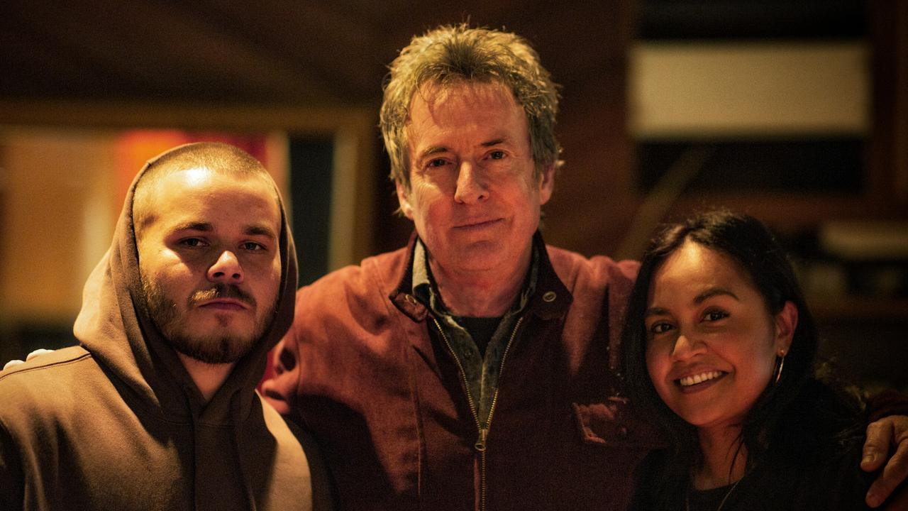 Rapper Tasman Keith, Midnight Oil's Rob Hirst and Jessica Mauboy. Picture: Supplied/ Robert Hambling