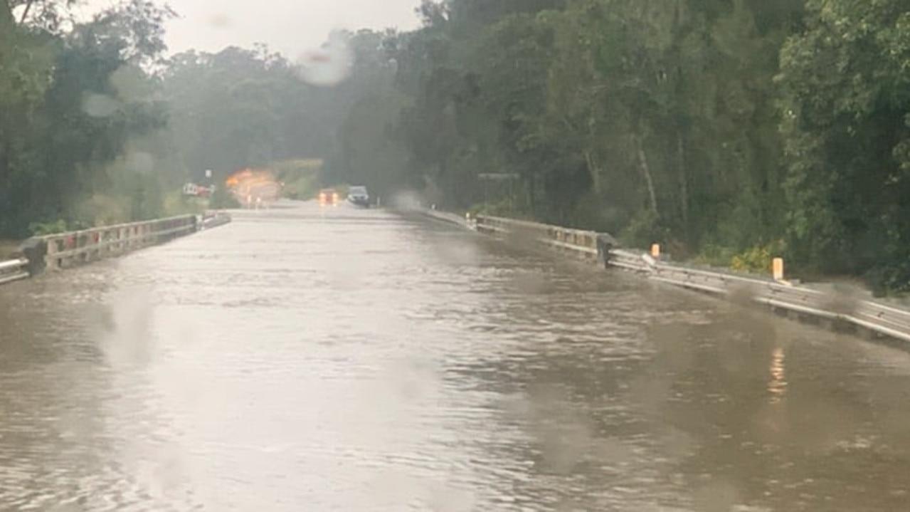 Heavy rainfall has smashed the NSW coast causing flash flooding.