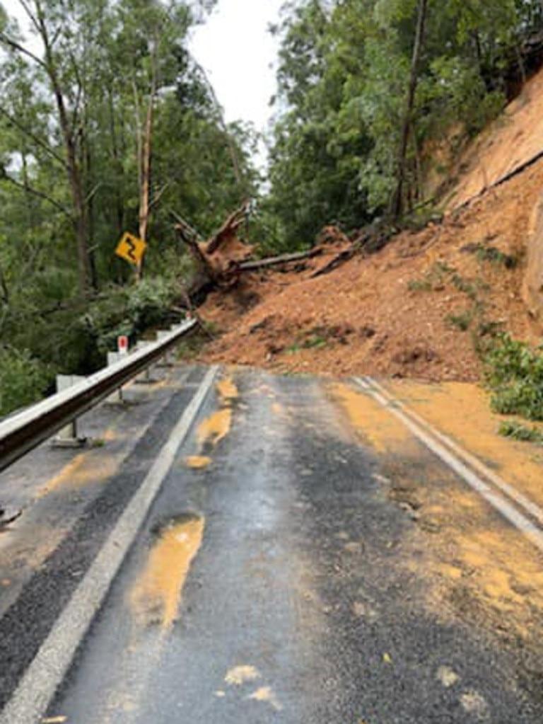 Heavy rainfall triggered a landslide at Dorrigo
